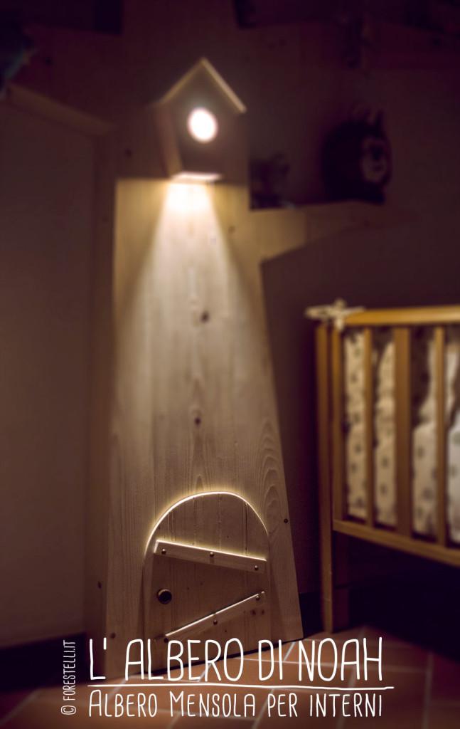 Punto luce libreria albero di noah